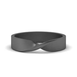 Twist Wedding Band For Male