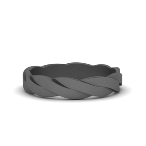 Black Gold Matte Finish Twisted Band