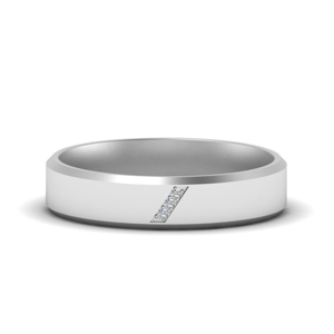 Platinum 3 Stone Wedding Band