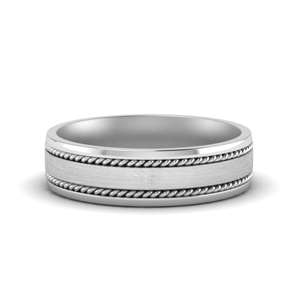 White Gold Men Wedding Band