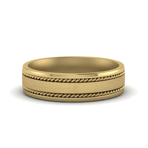 Gold Braided Design Mens Band