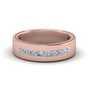 Rose Gold Channel Diamond Band