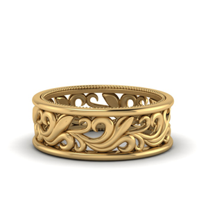 Filigree Gold Men Band