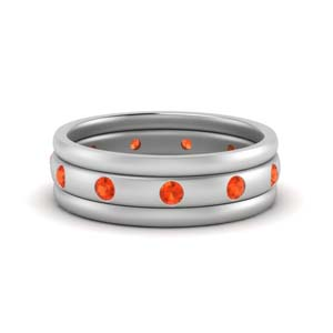 Orange Topaz Trio Stack Band