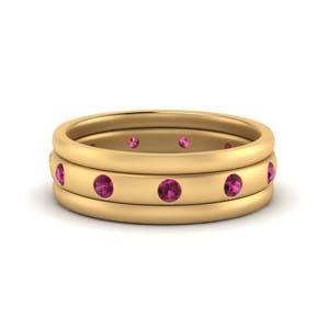 Stack Station Pink Sapphire Band