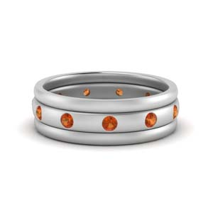 Trio Stack Bezel Set Band
