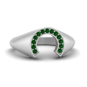 Platinum Emerald Ring For Male