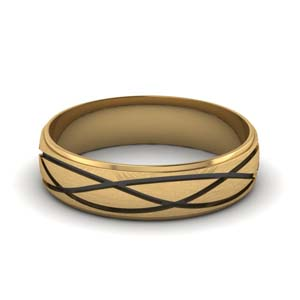 Gold Mens Infinity Band