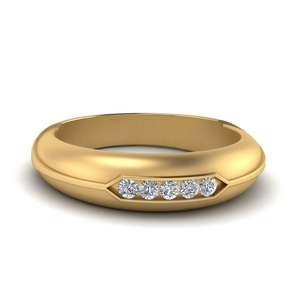 Dome Five Stone Mens Ring