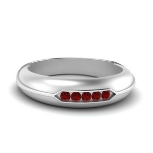 Dome Five Stone Ruby Ring