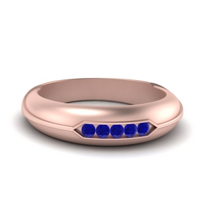 5 Stone Men Wedding Ring