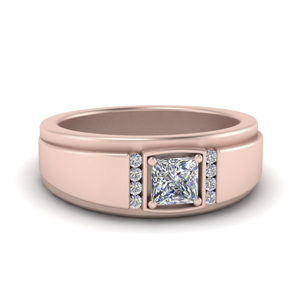 Princess Cut Male Engagement Ring
