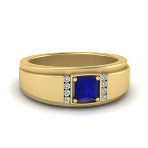 Sapphire Wedding Ring For Male