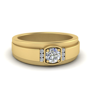 Mens Diamond Accented Ring