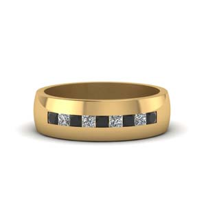Channel Set Square Diamond Band