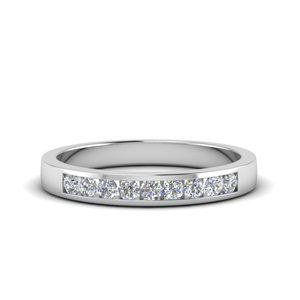channel round diamond wedding band in FDMR1205 NL WG
