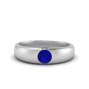 Male Sapphire Wedding Bands