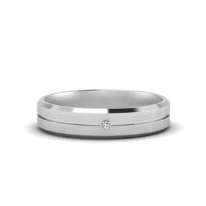Mens Single Stone Engagement Ring