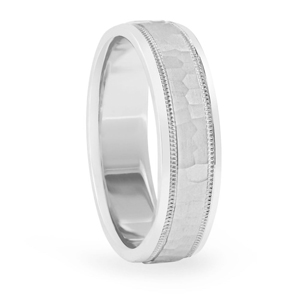 Platinum Male Wedding Band 8 mm