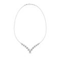3 4 ct. round diamond graduated V necklace in 14K white gold FDNK8068ANGLE1 NL WG