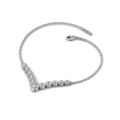 3 4 ct. round diamond graduated V necklace in 14K white gold FDNK8068ANGLE2 NL WG