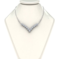 3 4 ct. round diamond graduated V necklace in 14K white gold FDNK8068NECK NL WG