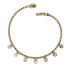 Circle Charm Diamond Necklace