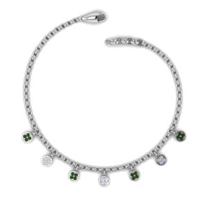 Emerald Fancy Diamond Necklace