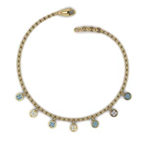 Charm Choker With Topaz Necklace