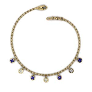 Charm Choker Sapphire Necklace