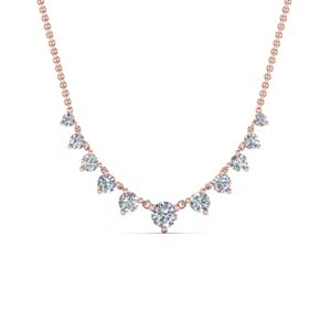 Womens Graduated Diamond Necklace