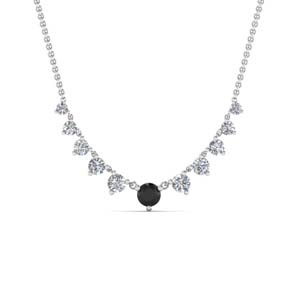Classic Black Diamond Necklace