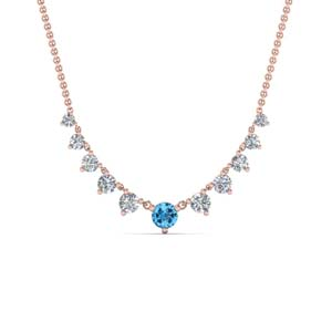 Graduated Topaz Necklace