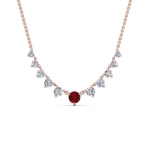 Graduated Ruby Necklace