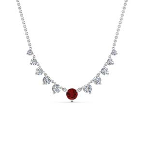 Ruby Fancy Pendant Necklace
