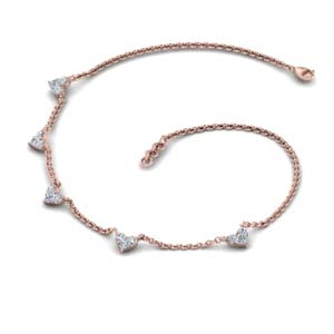Choker Diamond Station Necklace