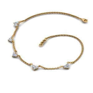 Heart Diamond Choker Necklace
