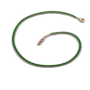 Tennis Choker Emerald Necklace
