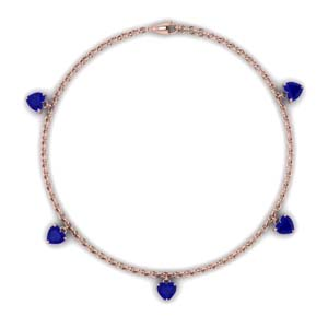 Choker Station Sapphire Necklace