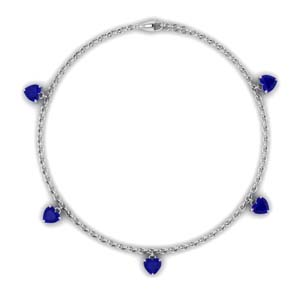 Sapphire Charm Station Necklace