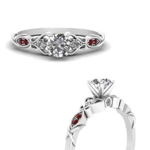 Platinum Ruby Antique Ring