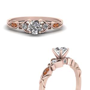 Rose Gold Delicate Shank Ring