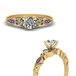 Purple Topaz Antique Ring
