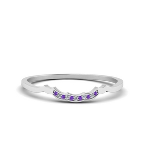 Purple Topaz Wave Design Band