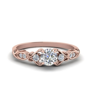 Victorian Style Round Diamond Ring