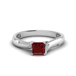 Unique Swirl Ruby Ring
