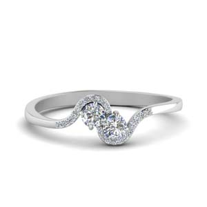 Bypass 2 Stone Diamond Ring