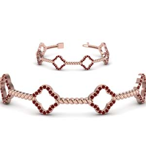 twist ruby bracelet for women in FDOBR70340GRUDRANGLE2 NL RG GS