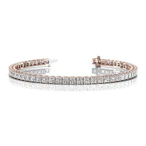 6 Carat Princess Cut Eternity Bracelet