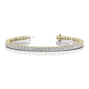 6 carat princess cut diamond tennis eternity bracelet in FDOBR70160 NL YG